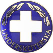 Vårdbrosch 101. UNDERSKÖTERSKA