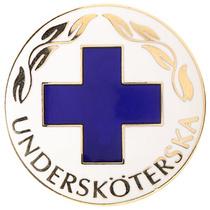 Vårdbrosch 123. UNDERSKÖTERSKA
