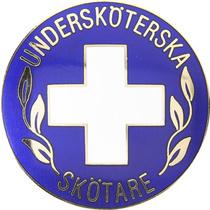 Vårdbrosch 113. UNDERSKÖTERSKA / SKÖTARE