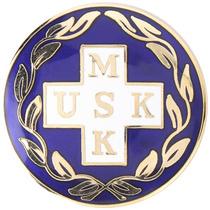 Vårdbrosch 111. MSK / USK