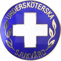 Vårdbrosch 102. UNDERSKÖTERSKA / SJUKVÅRD
