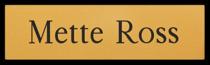 Namnskylt rektangulär i plastlaminat -307 guld/svart
