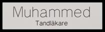 Namnskylt rektangulär i plastlaminat -305 silver/svart