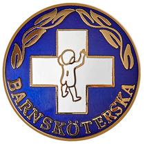 Vårdbrosch 141. BARNSKÖTERSKA