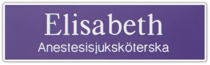 Namnskylt rektangulär i plastlaminat -313 lila/vit